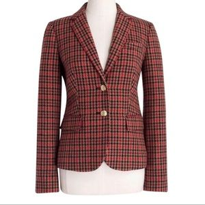 NEW J. Crew Patterned Schoolboy Blazer Houndstooth